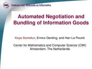Automated Negotiation and Bundling of Information Goods