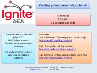 Creating potent presentations for all