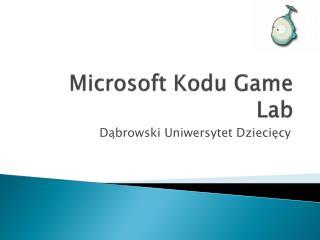 Microsoft Kodu Game Lab