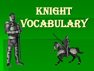 Knight Vocabulary