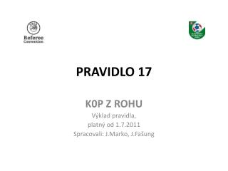 PRAVIDLO 17