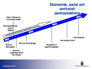 Sveriges syn på KOMs förslag till  EU:s långtidsbudget (1)