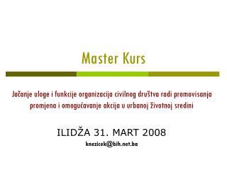 Master  Kurs