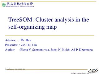 TreeSOM: Cluster analysis in the self-organizing map