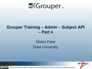 Grouper Training – Admin – Subject API – Part  4