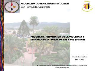 PROGRAMA  PREVENCION DE LA VIOLENCIA Y DESARROLLO INTEGRAL DE LAS Y LOS JOVENES