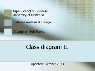 Class diagram II