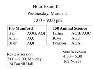 Hour Exam II