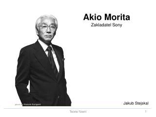Akio Morita Zakladatel Sony