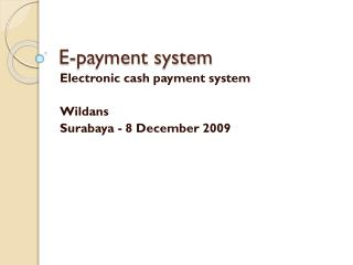E-payment system
