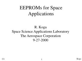 EEPROMs for Space Applications