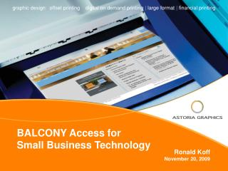BALCONY Access for  Small Business Technology