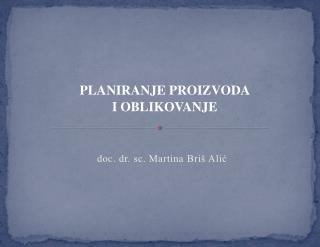 doc. dr . sc. Martina Briš Alić