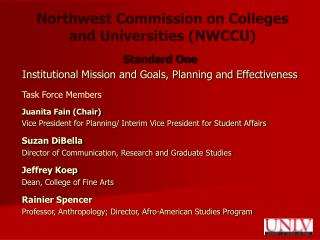 Northwest Commission on Colleges and Universities (NWCCU)