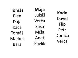 Tomáš Elen Dája Kača Tomáš Market Bára