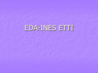 EDA-INES ETTI