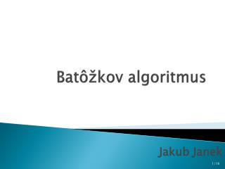 Batôžkov algoritmus