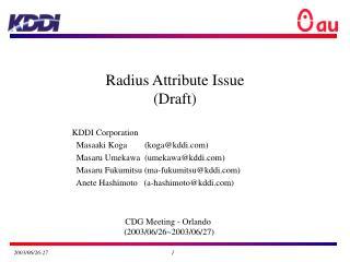 Radius Attribute Issue (Draft)