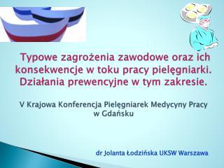 dr Jolanta Łodzińska UKSW Warszawa
