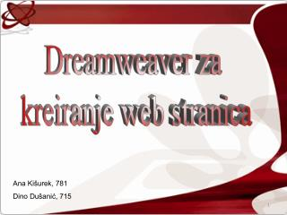 Dreamweaver za  kreiranje web stranica