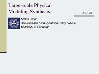 Large-scale Physical Modeling Synthesis