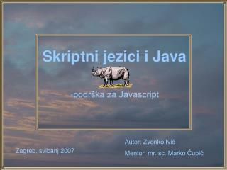 Skriptni jezici i Java