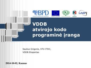 VDDB  atvirojo kodo programinė įranga