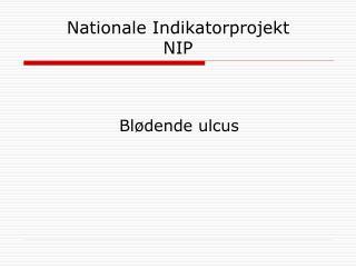 Nationale Indikatorprojekt NIP