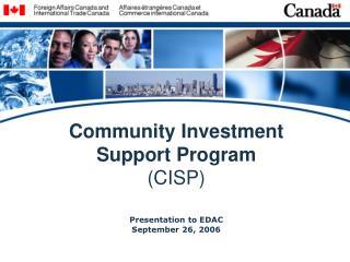 Community Investment Support Program