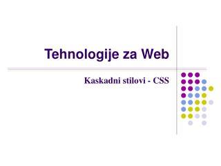 Tehnologije za Web