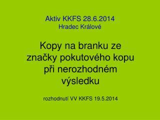 Aktiv KKFS 28.6.2014 Hradec Králové