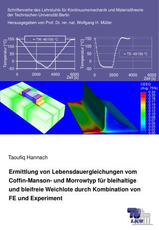 Schriftenreihe des Lehrstuhls für Kontinuumsmechanik und Materialtheorie