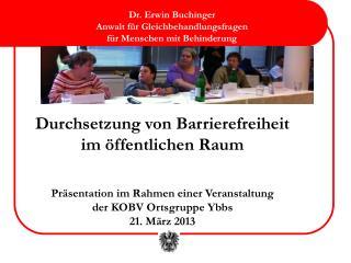 Durchsetzung von Barrierefreiheit  im öffentlichen Raum