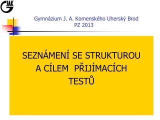 Gymnázium J. A. Komenského Uherský Brod PZ 201 3