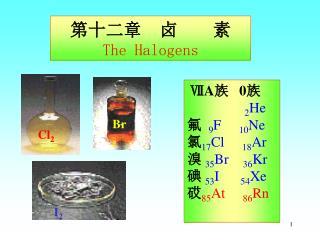 第十二章  卤    素 The Halogens
