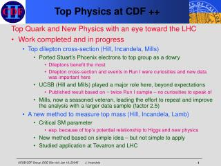 Top Physics at CDF ++