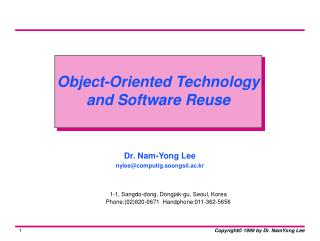 Object-Oriented Technology and Software Reuse