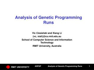 Analysis of Genetic Programming Runs