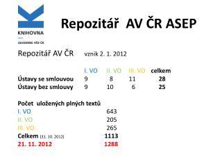Repozitář   AV ČR ASEP