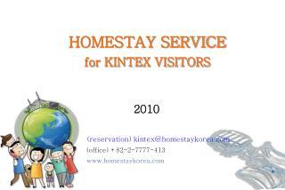 HOMESTAY SERVICE for KINTEX VISITORS