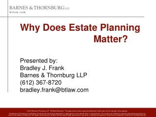 Why Does Estate Planning Matter?