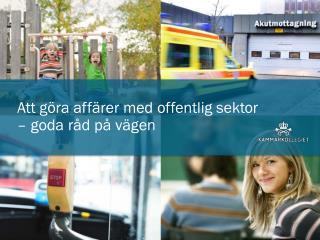 Att göra affärer med offentlig sektor  – goda råd på vägen