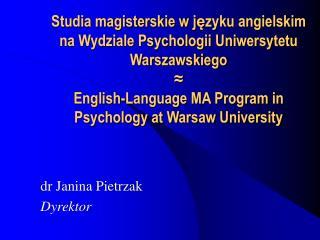 dr Janina Pietrzak Dyrektor