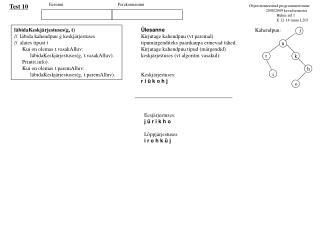Objetorienteeritud programmeerimine                  2008/2009 kevadsemester
