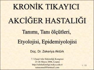 Doç. Dr. Zekeriya Aktürk