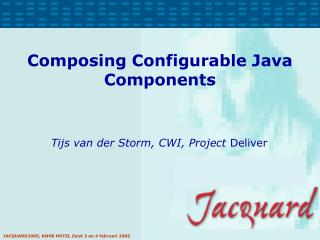 Composing Configurable Java Components