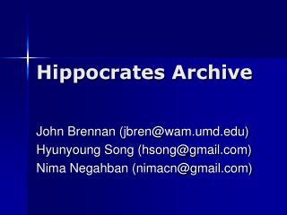 Hippocrates Archive