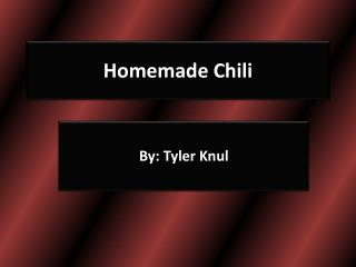 Homemade Chili