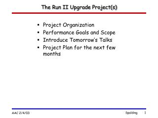 The Run II Upgrade Project(s)