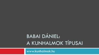 Babai  Dániel: A  kunhalmok típusai